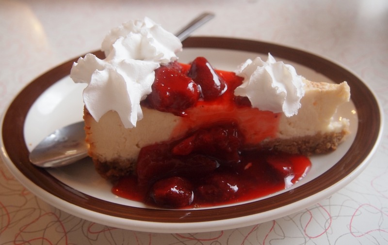 cheesecake en el Mr Dz de Kingman Arizona