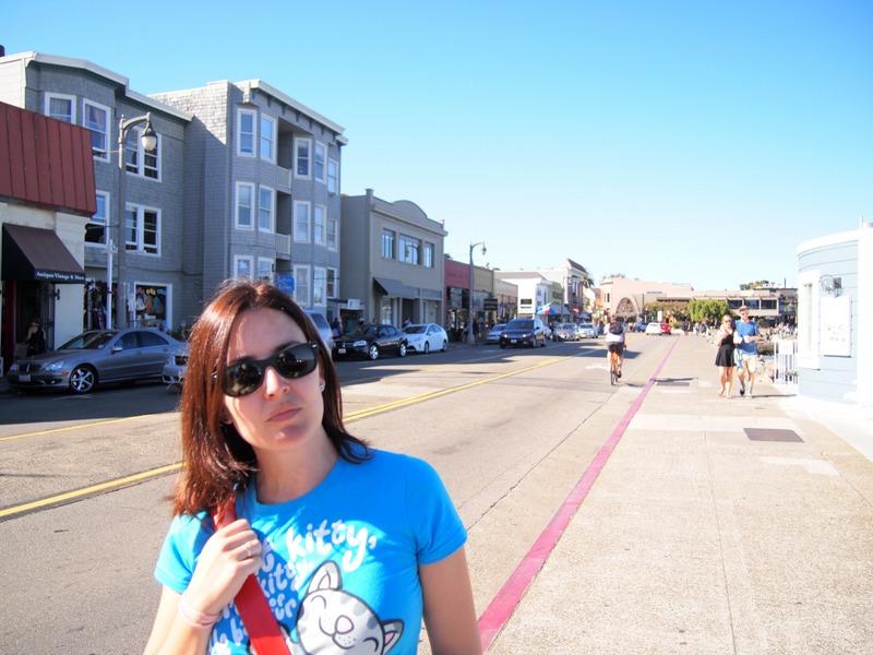 Lidia en las calles de Sausalito