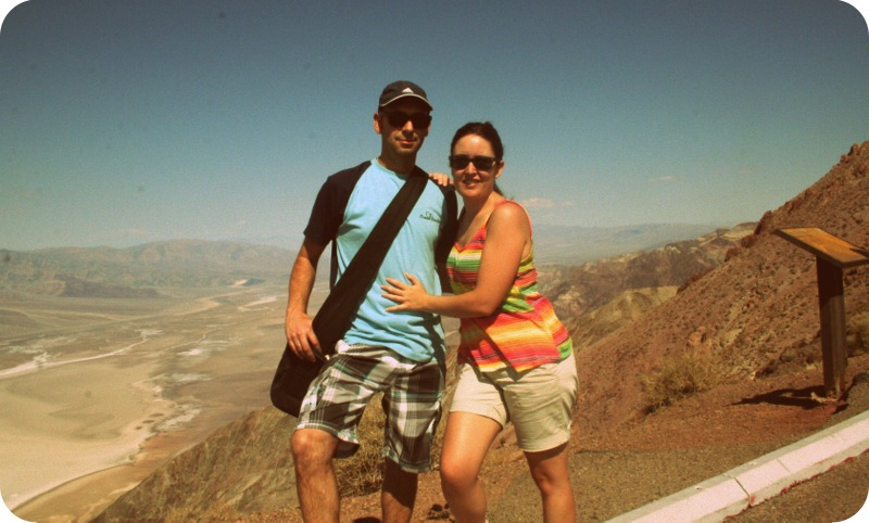 Lidia y Sergio en Dante's View en Death Valley
