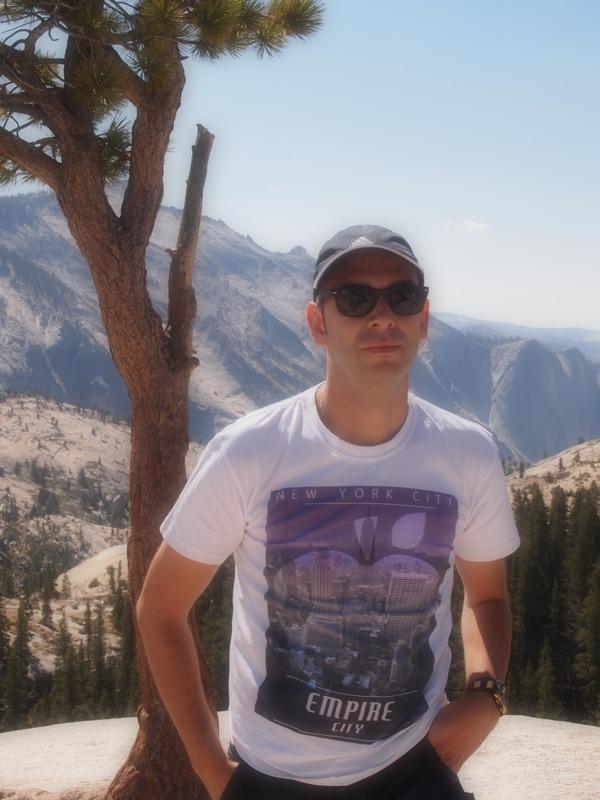 Sergio en Olmsted Point,en Yosemite