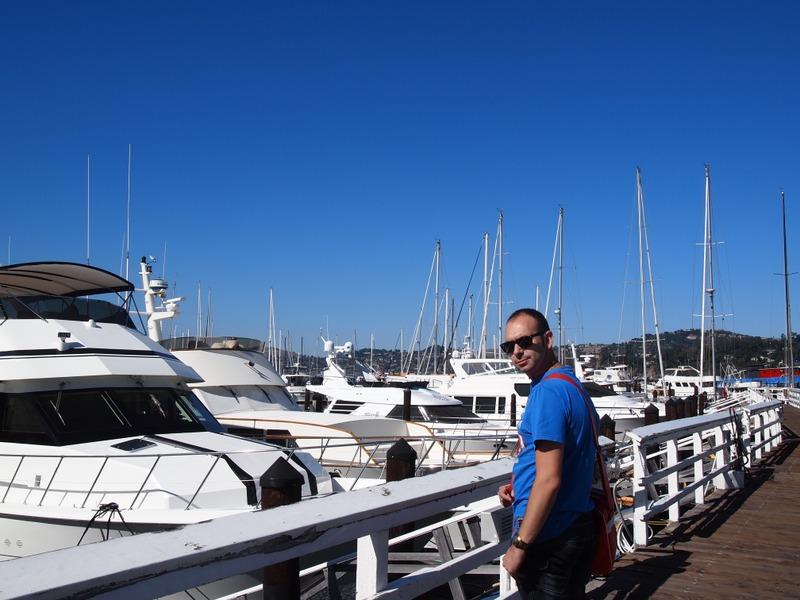 Sergio en el puerto de Sausalito