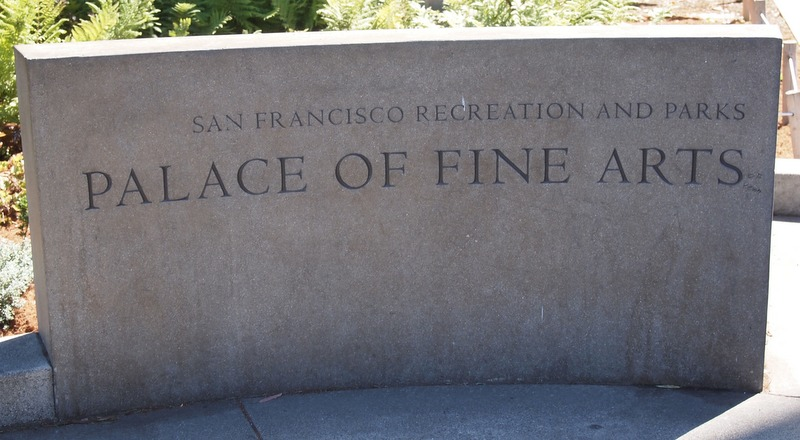 cartel del Palace of Fine Arts de San Francisco