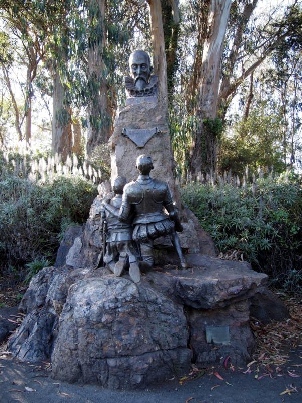 estatua de Don Quijote en el Golden Gate Park de San Francisco