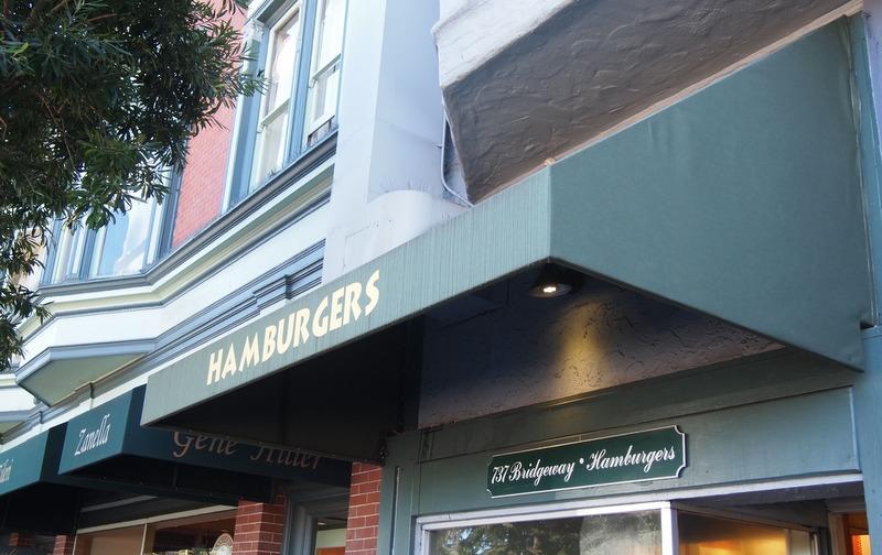 hamburguesería en Sausolito: fachada