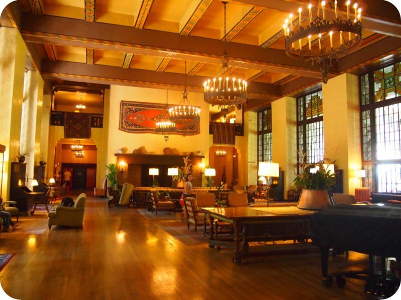 salón del Hotel Ahwahnee, en Yosemite
