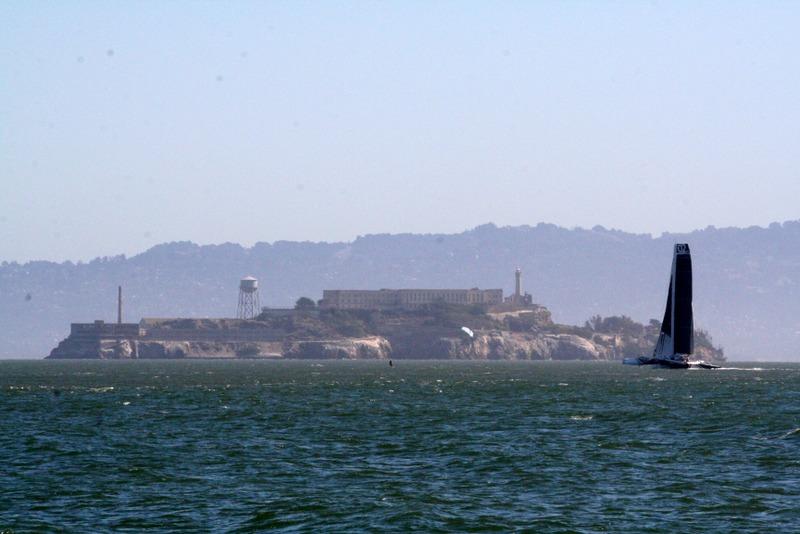 vista de Alcatraz desde Presidio en San Francisco
