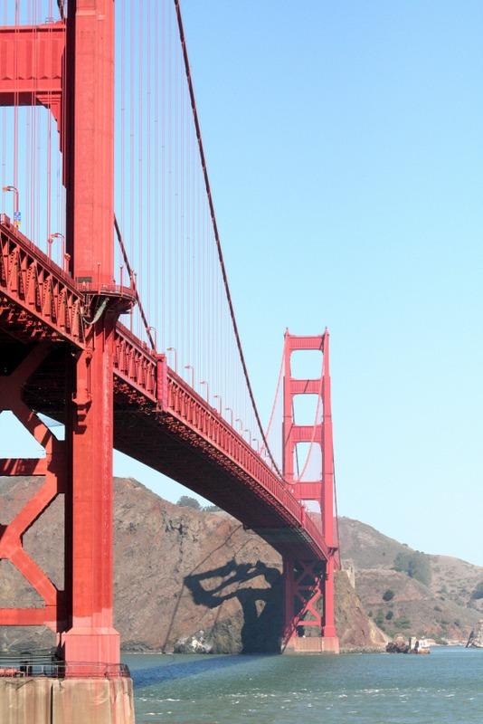 vista desde abajo del Golden Gate desde Fort Point en San Francisco