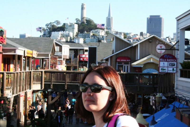 Lidia en Fisherman's Wharf en San Francisco