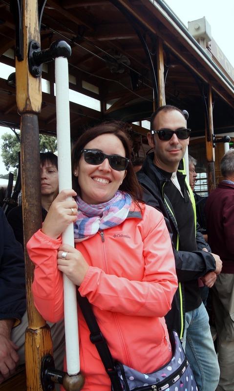 Lidia y Sergio en el cable car de San Francisco 2
