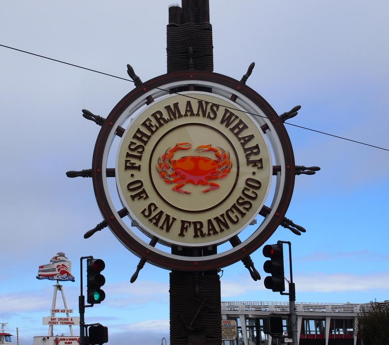 cartel de Fisherman's Wharf en San Francisco