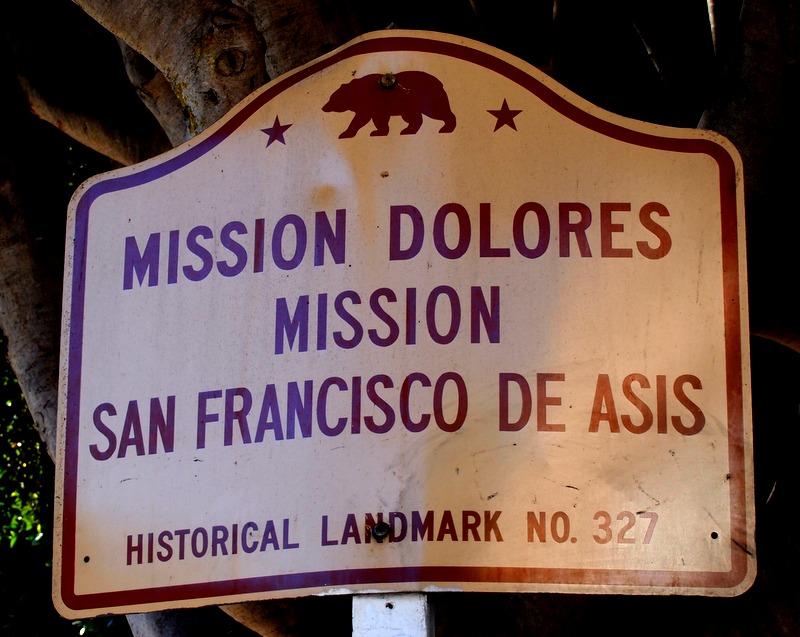 cartel de Mission Dolores en San Francisco