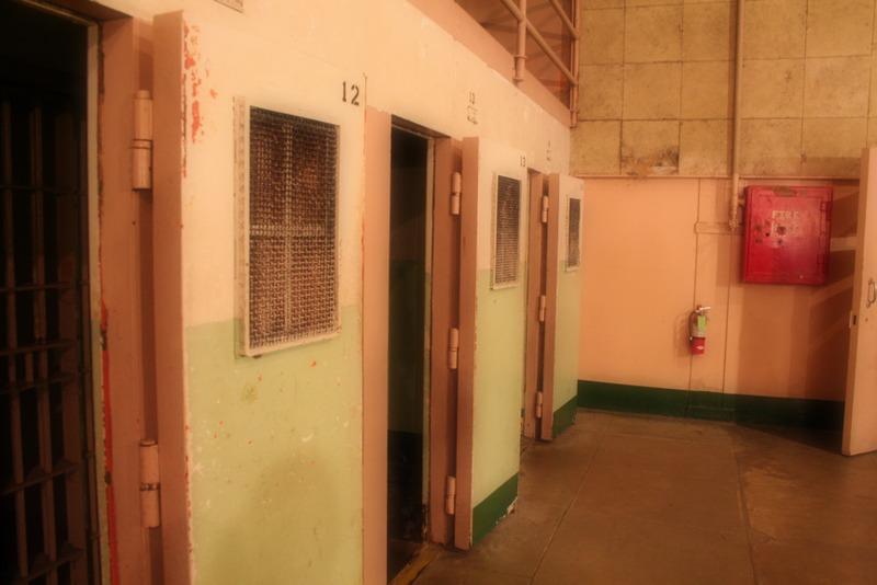 celdas de aislamiento en la prisión de Alcatraz