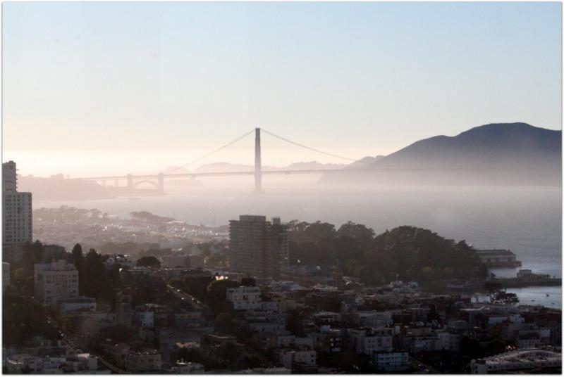 vista desde la Coit Tower - Golden Gate