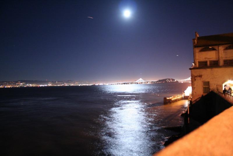 vista nocturna de San Francisco desde Alcatraz 1