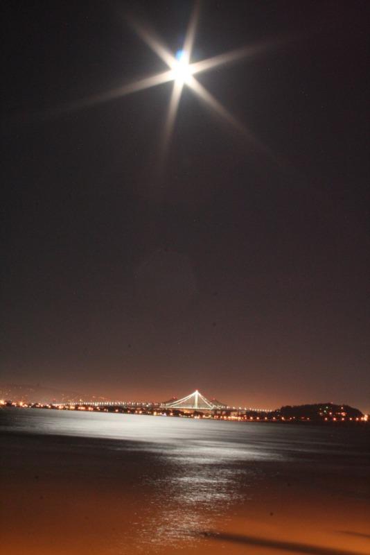 vista nocturna de San Francisco desde Alcatraz 2