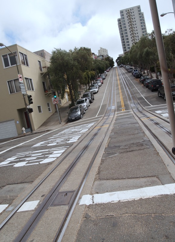 vistas de las calles de San Francisco desde el cable car 1
