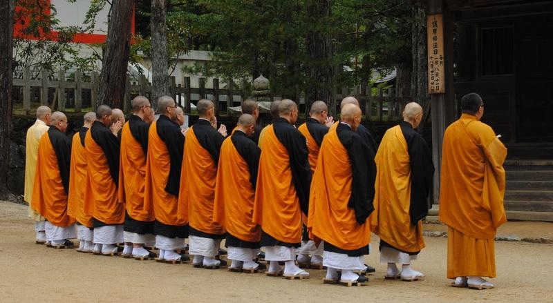 Foto de Shinkon Japón de monjes en templo