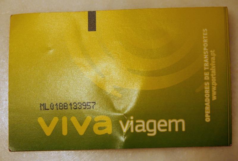 tarjeta de transporte público de Lisboa - Viva Viagem
