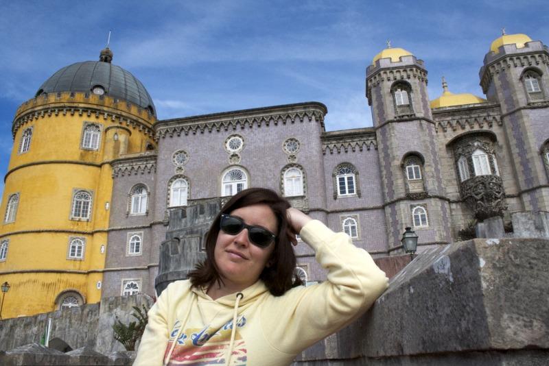 Lidia en el Palacio da Pena en Sintra