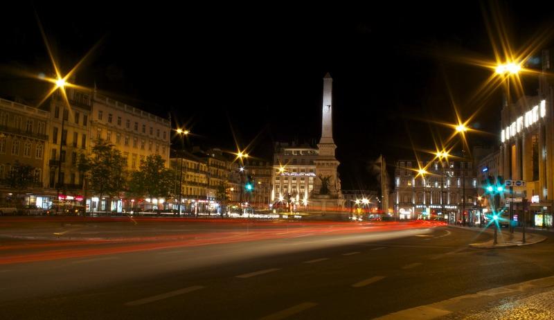 Lisboa de noche - plaza