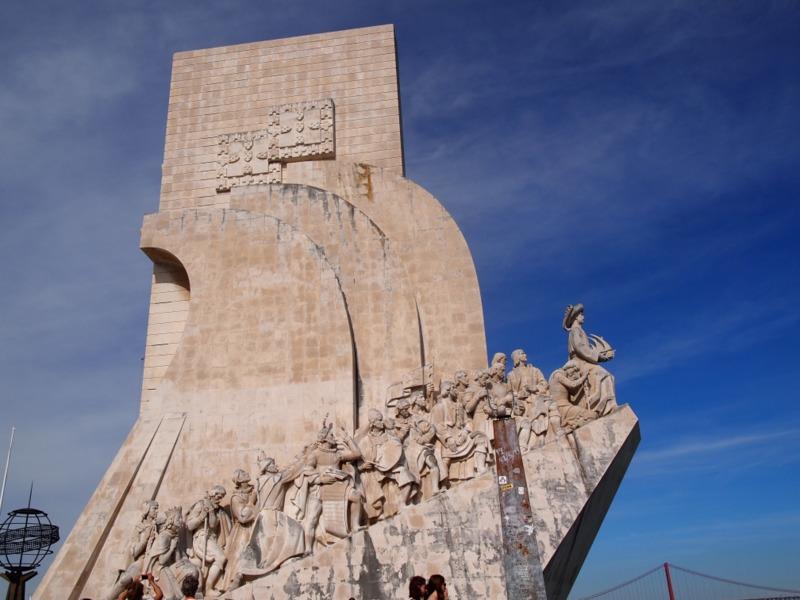 Monumento a los Descubrimientos en el barrio de Belém Lisboa