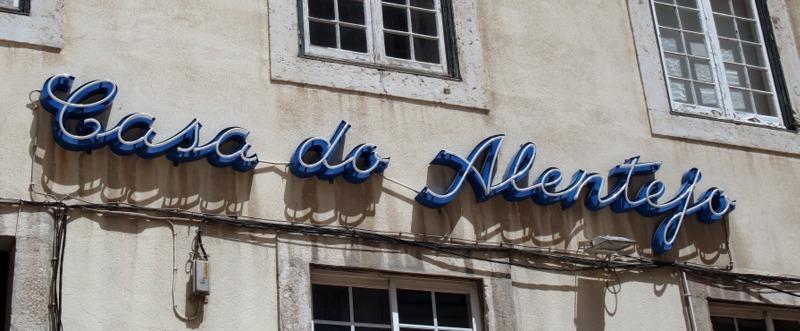 fachada del restaurante Casa do Alentejo en Lisboa