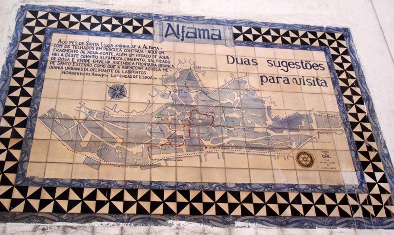 azulejo del barrio de Alfama en Lisboa