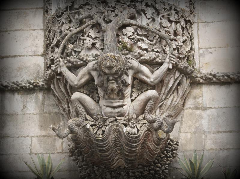 detalle de la facha del Palacio da Pena en Sintra