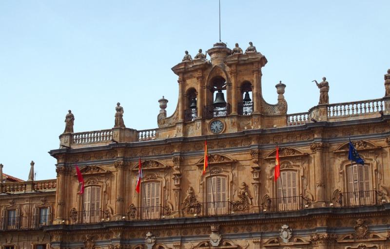 Ayuntamiento de Salamanca en la Plaza Mayor