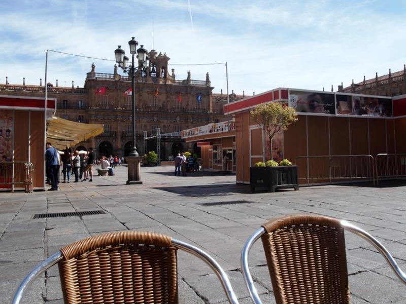 cafetería en la Plaza Mayor de Salamanca