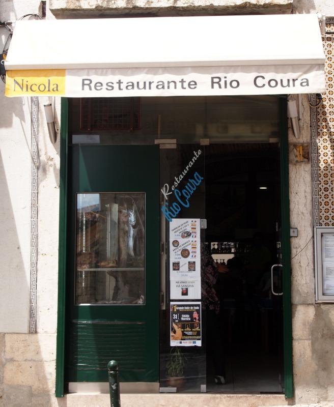 restaurante Río Coura en Lisboa - fachada