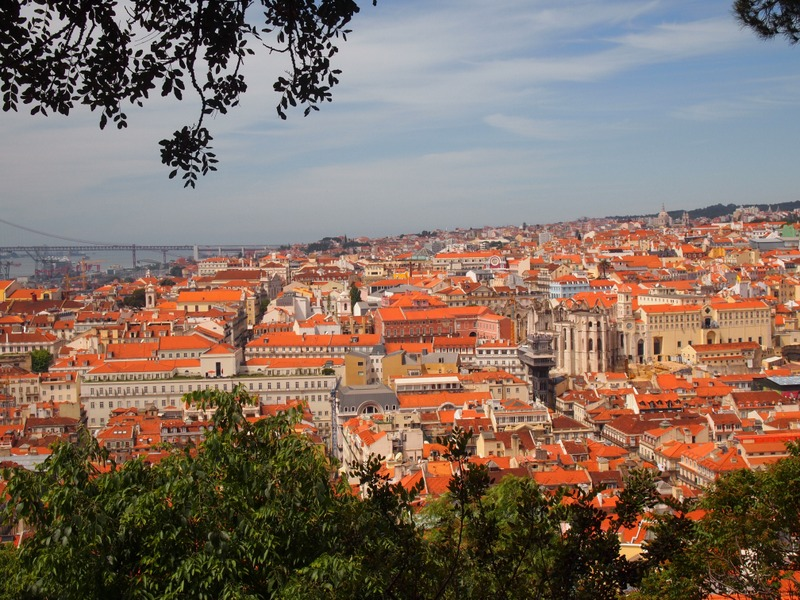 vistas de Lisboa desde el Castillo de San Jorge en el barrio de Alfama 1