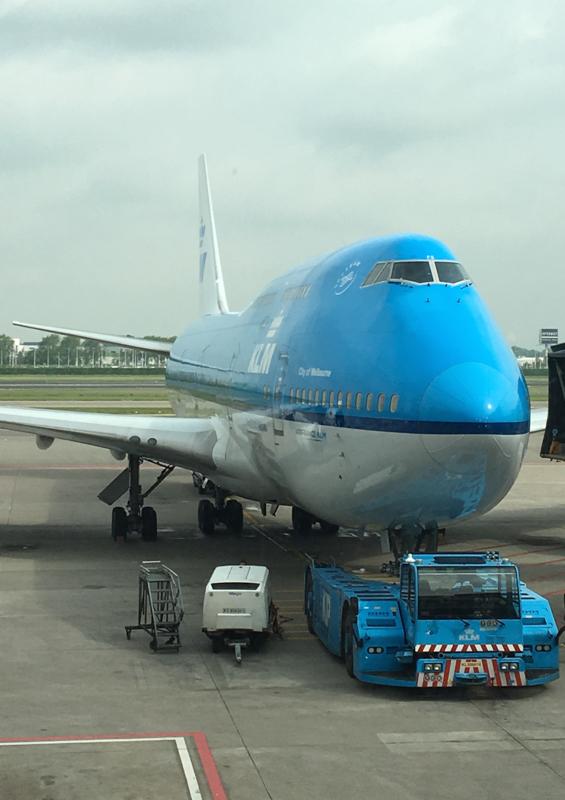 Boeing 747 de KLM hacia Chicago