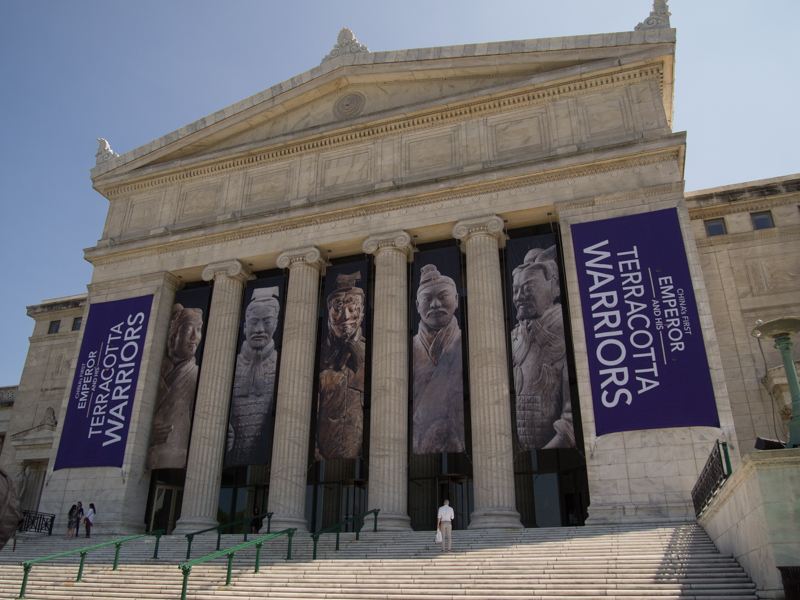 fachada del Field Museum of Natural History de Chicago