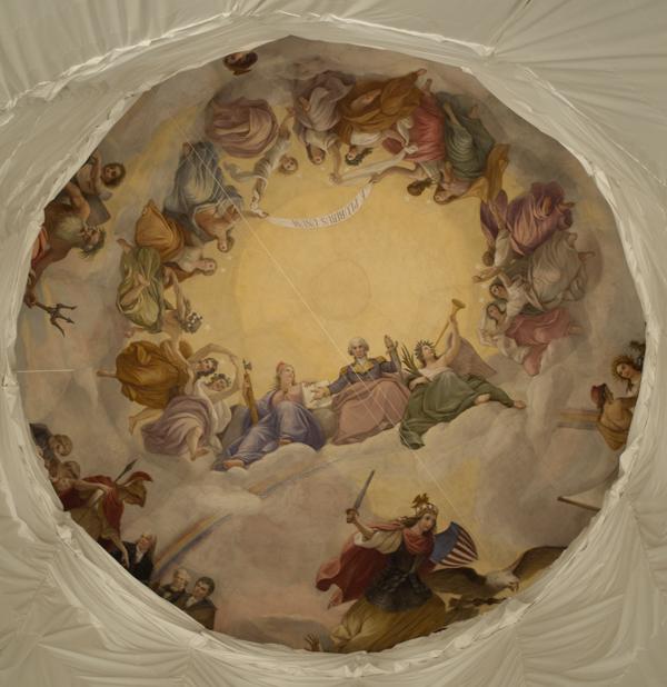 La Apoteosis de Washington en la Rotonda del Capitolio en Washington DC