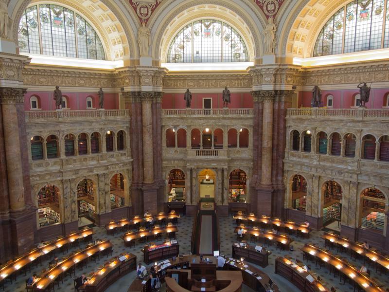 Sala de Lectura Principal de la Biblioteca del Congreso de Washington DC