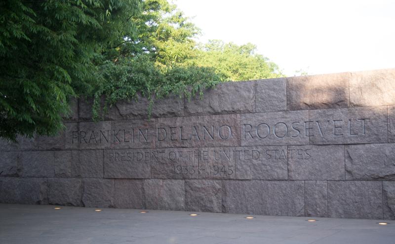 entrada al Memorial Franklin Delano Roosevelt en Washington DC
