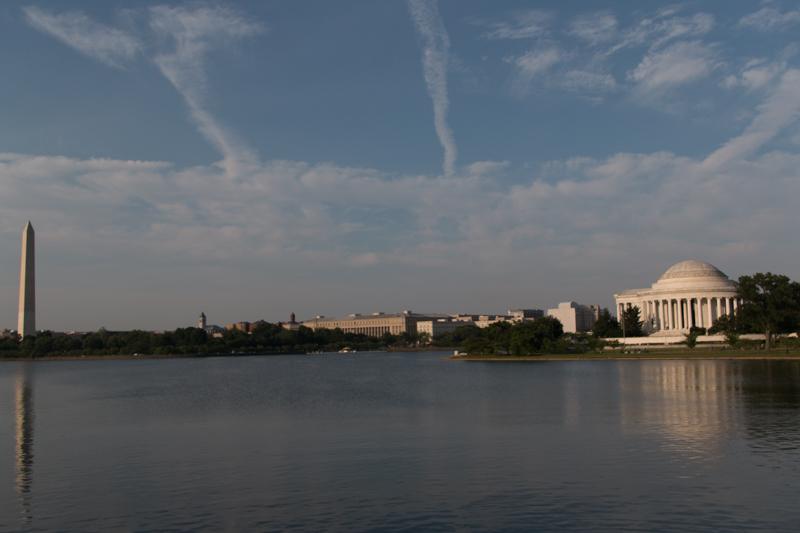 Obelisco y Memorial de Jefferson en Washington DC