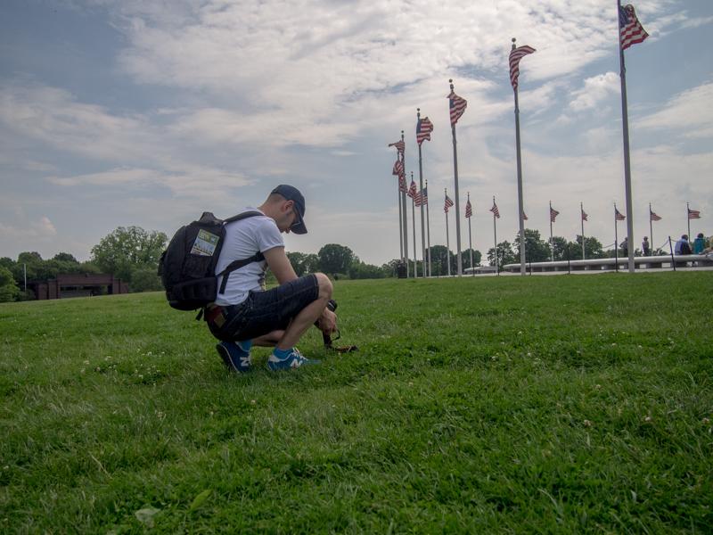 Sergio haciendo fotos al Monumento a Washington