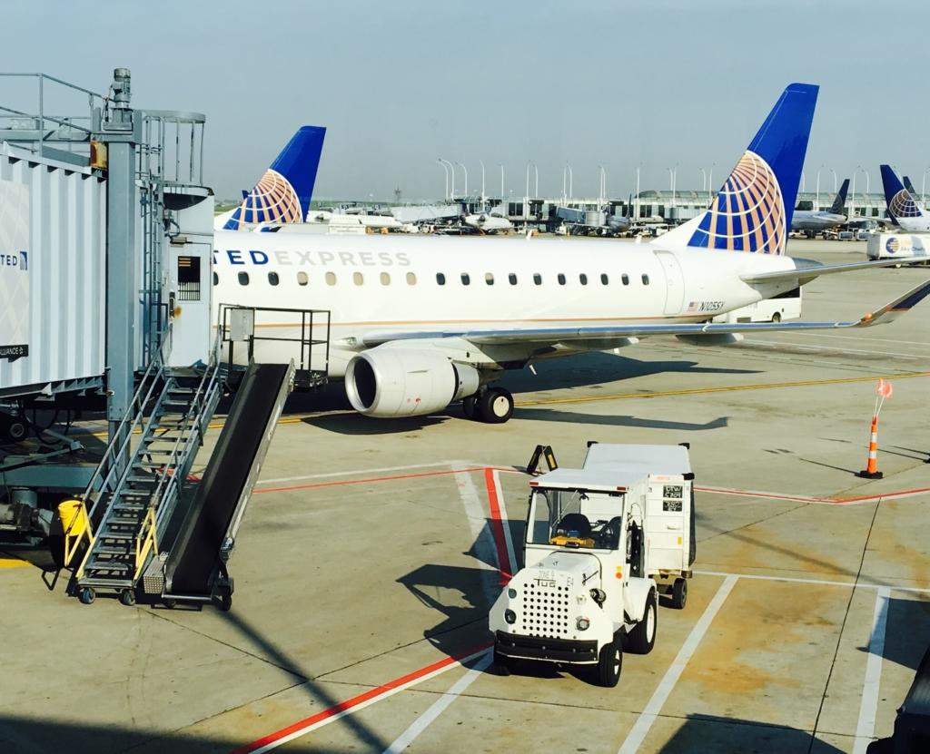 avion de United Airlines de Chicago a Washington DC