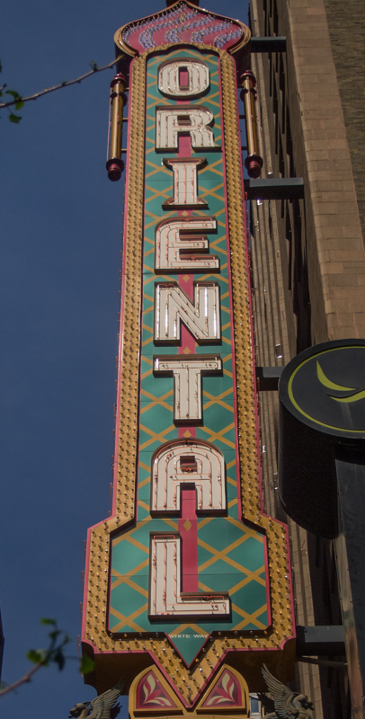 cartel de Oriental Theatre de Chicago