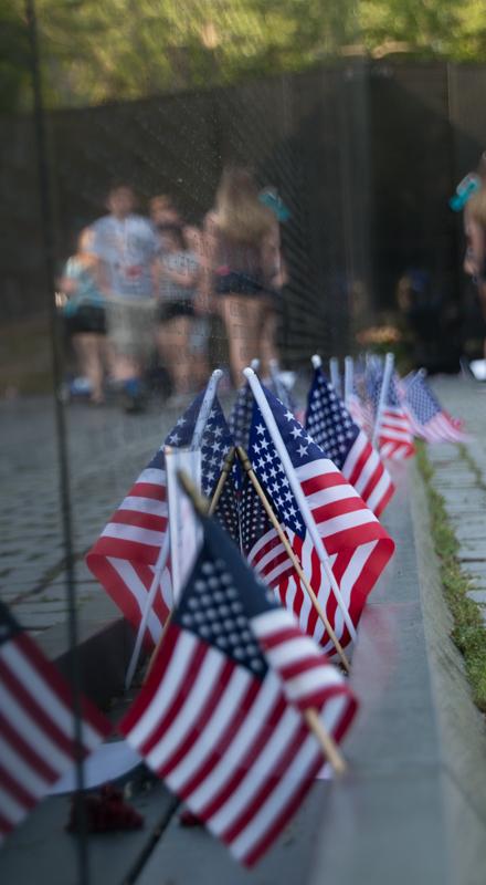 detalle del Memorial de la Guerra de Vietnam en Washington DC
