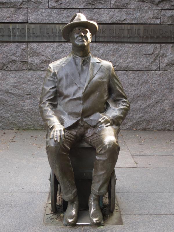 estatua del presidente Roosevelt en su Memorial de Washington DC 1