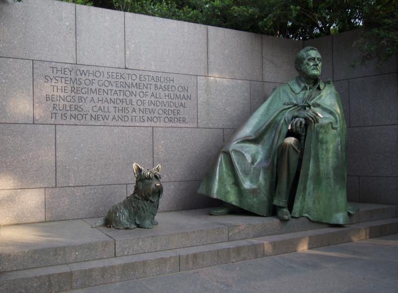 estatua del presidente Roosevelt en su Memorial de Washington DC 2