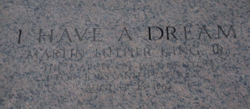 punto del Lincoln Memorial desde donde Martin Luther King pronunció su discurso en la Marcha sobre Washington