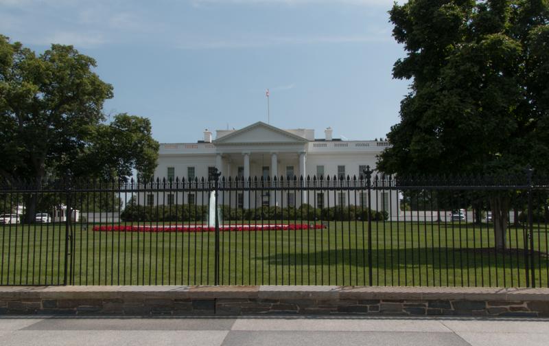 parte delantera de la Casa Blanca en Washington DC