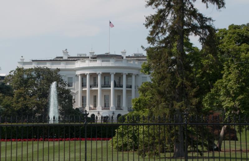 parte trasera de la Casa Blanca en Washington DC