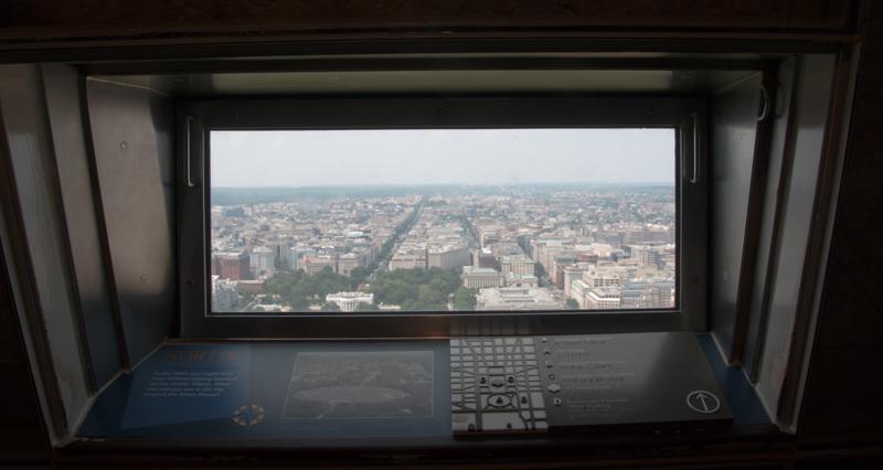 ventana del Monumento a Washington en DC