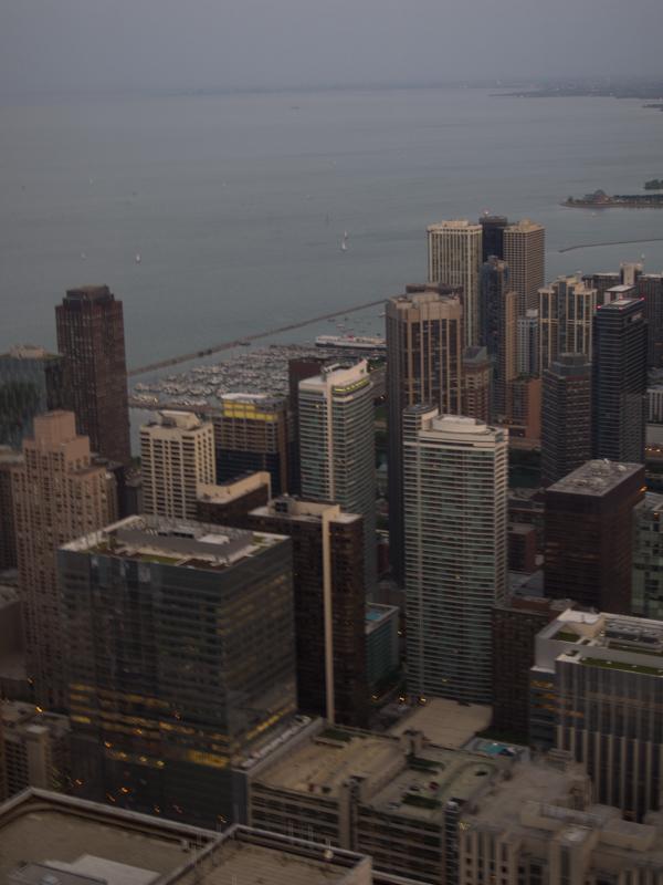 vistas de Chicago desde el baño de chicas del Signature Lounge de la Torre Hancock 2