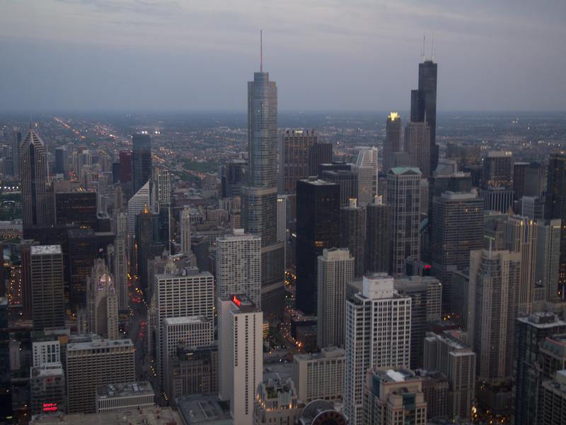 vistas de Chicago desde el baño de chicas del Signature Lounge de la Torre Hancock 1